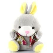 艾米(iMMi) IP-606第二代毛绒卡通移动电源 米米兔 电量显示 充电速度提升1倍 容量升级至6000毫安 黄色