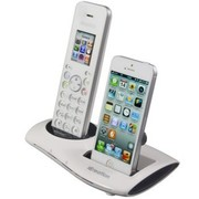 i谷瑞森(icreation) 适用于苹果iPhone4S 三星Note2 充电底座蓝牙防辐射电话座机 iphone白色