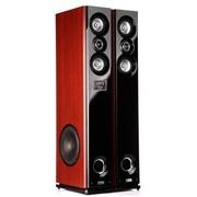现代 HY-318-20 2.0有源对箱家庭影院/落地式/家用对箱/带USB/双无线话筒/双4寸中音(棕色)