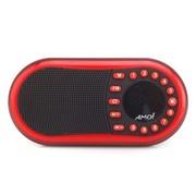 夏新 X200 超薄多功能便携式数码播放器 立体声 收音机 数字选歌 插卡音箱 可乐红