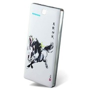 V+V 马年贺岁版 移动电源充电宝 V88双USB输出12000mAh  A品聚合物电芯 极致材质 白色