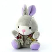 艾米(iMMi) IP-508 卡通个性移动电源 米米兔(坐姿)系列—紫色 创意便携毛绒移动电源 全球首创 三星电芯