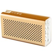月光宝盒 爱国者(aigo) 蓝牙音箱 M1 香槟金 无线音响 低音炮 通话手机电脑音箱 立体声 插卡音箱