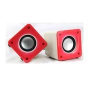 暴享 赛魅S008 笔记本迷你小音箱 台式电脑多媒体USB 2.0便捷小音响 低音炮 粉红色