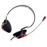 方正科技 EH5001 立体声后挂式耳麦(适用于台式机,笔记本) 红与黑