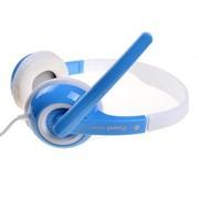 方正科技 EH3006 轻便头戴式耳麦(电脑、笔记本、手机、MP3) 天然蓝