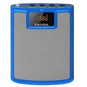 熊猫 K1 便携插卡收音扩音器老年人唱戏广场舞音箱大功率教师教学导游腰挂MP3无线扩音机(蓝色)