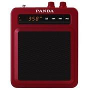 熊猫 K7 便携插卡收音扩音器老年人唱戏广场舞音箱大功率教师教学导游腰挂MP3无线扩音机(红色)