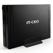 IT-CEO V12S2 USB3.0 2.5寸 双硬盘盒 带RAID功能 外接盒/硬盘盒 尊贵黑