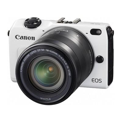 佳能 EOS M2 微单套机 白色(18-55mm,22mm)产品图片1