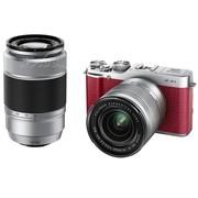 富士 X-A1 单电套机 红色(16-50mm,50-230mm)