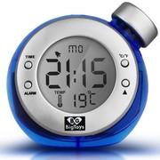 BigToys Along-C1120 智能水发电闹钟 终身无需电池的水元素魔法时钟 创意环保礼品 蓝色