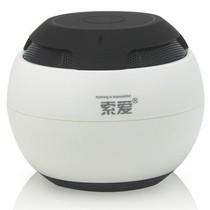 索爱 S-35 蓝牙音箱 无线免提通话器 便携插卡迷你小音响 珍珠白产品图片主图