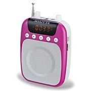 索爱 S-378 多功能扩音器(便携式 大功率 收音 MP3 录音 15小时 插卡音箱 导游 教学 腰挂) 炫丽紫