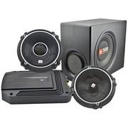 JBL 前声场GTO608C/后声场GTO628/超低音箱体CS1014B/功放GX-A604 汽车音响套餐 (厂家直发)