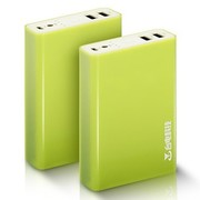 台电 T66F-G 移动电源 充电宝 6600毫安 A 原装电芯 双USB口 2.1A输出  活力绿