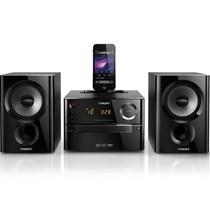 飞利浦 DCM1170/93 台式CD微型音响 震撼低音、苹果iPhone5连接产品图片主图