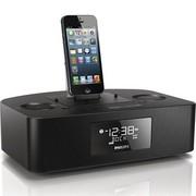 飞利浦 AJ7050D/93 iPhone6/5/5S 苹果充电音乐底座音响 家居迷你音箱 时钟收音机 黑色