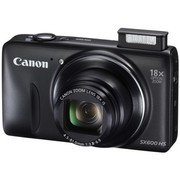 佳能 PowerShot SX600 HS 数码相机 黑色(1600万像素 18倍光变 3英寸高清屏 25mm广角 WiFi/NFC)