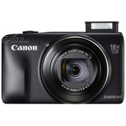 佳能 SX600 HS 数码相机 黑色(1600万像素 3英寸液晶屏 18倍光学变焦 25mm广角)