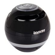 暴享 BX662 圆形无线迷你蓝牙小音箱 黑色 可插卡 可接通电话