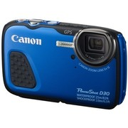佳能 PowerShot D30 三防相机 蓝色(1210万像素 5倍光学变焦 3英寸屏 25米防水 抗震耐寒 GPS)
