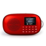 不见不散 LV550(红) 便携式插卡音箱老人机 中国好声音 数字键点歌选台 词曲同步显示 TF卡音乐 FM调频收音