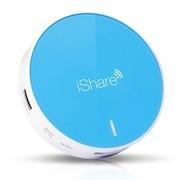 趋势 WP601 iShare爱分享 便携式无线数据分享器 WiFi 无线路由 充电宝 蓝色
