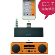 Snowkids 苹果Lightning(闪电接口)至30针接口音频转换器(升级版)黑色