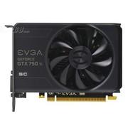 EVGA GTX750Ti 2GB SC 1176-1255MHz/5400MHz 128Bit D5 显卡