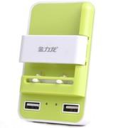 金力龙 手机座充 适用于iphone5三星手机通用充电器 万能充 万能充电器 三合一充电器 绿(厚电池专用款)