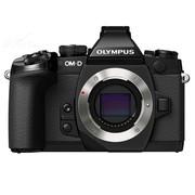 奥林巴斯 OM-D E-M1 微型单电机身 黑色(5轴防抖 内置WiFi 可翻转触摸屏 防尘防水溅防冻)