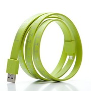 摩奇思 micro USB 软尺数据线 绿色