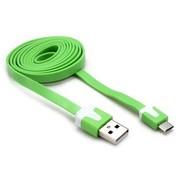 摩奇思 micro usb数据线扁线 绿色