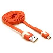 摩奇思 micro usb数据线扁线 橘色