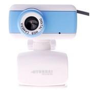 现代 HYC-W180 高清晰 数字内置麦克 摄像头蓝白色+ 原厂高速 4口 集线器二合一套装