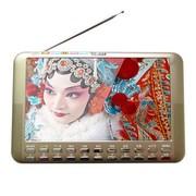 小霸王 霸王视频扩音器S12 9寸高清视频扩音器唱看戏机音响内置锂电FM收音机 金色