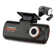 iceeper A200前后镜头行车记录仪 双镜头 1080p高清 超广角夜视 豪华版双镜头标配无卡
