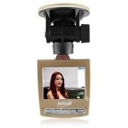 博德康 B01行车记录仪 高清广角夜视 双镜头 1080P迷你1200万真相视界 土豪金标配
