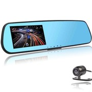 iceeper 4.3寸后视镜行车记录仪 前后 双镜头 高清广角 倒车影像 双镜头蓝牙升级版 32G