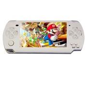 小霸王 掌上PSP游戏机炫影39 4.3寸屏街机任天堂内置9000款经典游戏带摄像录音MP5 白色8G版本+8G卡