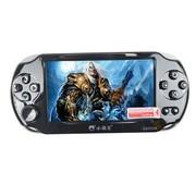 小霸王 掌上PSP游戏机8000 4.3寸屏内置3000款经典游戏支持拓展下载儿童GBA机 黑色8G版本+16G卡