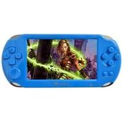 小霸王 掌上PSP游戏机8000 4.3寸屏内置3000款经典游戏支持拓展下载儿童GBA机 蓝色4G版本+8G卡