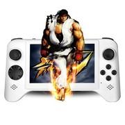小霸王 智能掌上游戏机倚天舰210 5寸高清屏双四核处理器带手柄摇杆型大型平板PSP游戏机 白色8G版本+8G卡