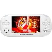 小霸王 PSP游戏机掌机倚天207 4.3寸触屏街机学习功能内置9000款经典游戏可下载 白色8G版本