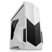 先马 影子战士 (白色蓝暴版) 精品游戏机箱 (双U3/双调速器/双开关/二合一读卡器/侧透/标配3把风扇)