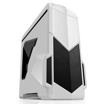 先马 影子战士 (白色蓝暴版) 精品游戏机箱 (双U3/双调速器/双开关/二合一读卡器/侧透/标配3把风扇)产品图片主图