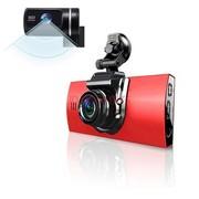 平行线 行车记录仪 双镜头 迷你高清HD 广角夜视王 P268 P268升级款魅力红 16G卡(送监控线)