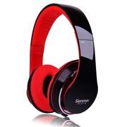 森麦 SM-IP133入耳式带话筒手机耳机 3.5mm接口万能耳机 红黑色