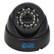 乔安(JOOAN) 570YRA-T 480线 6mm黑色 传统红外监控摄像头 室内海螺半球摄像机 彩转黑 广角(20米内)